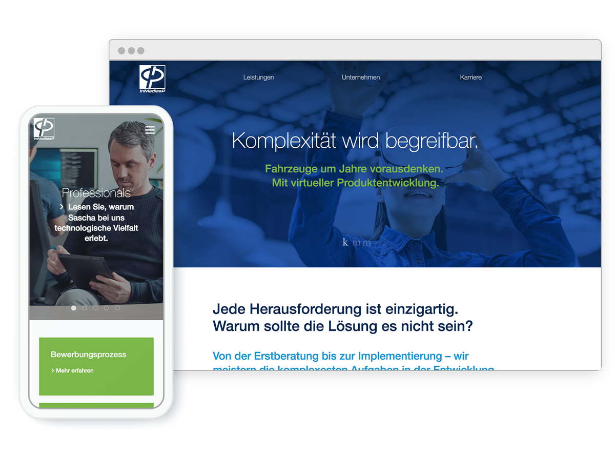 Corporate Website InMediasP GmbH